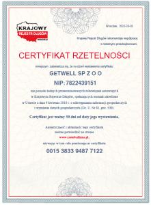 certyfikatrzetelnoscigetwell