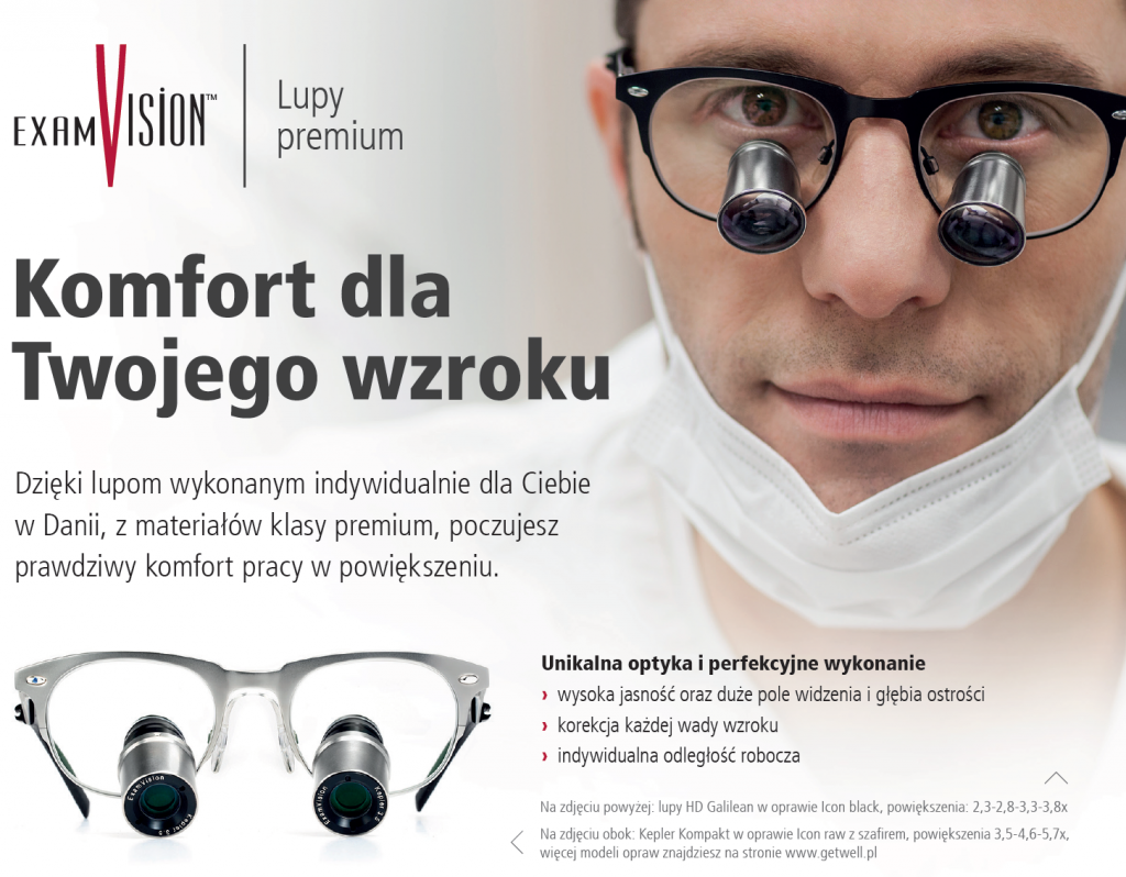 Zabiegowe stomatologiczne lupy premium ExamVision