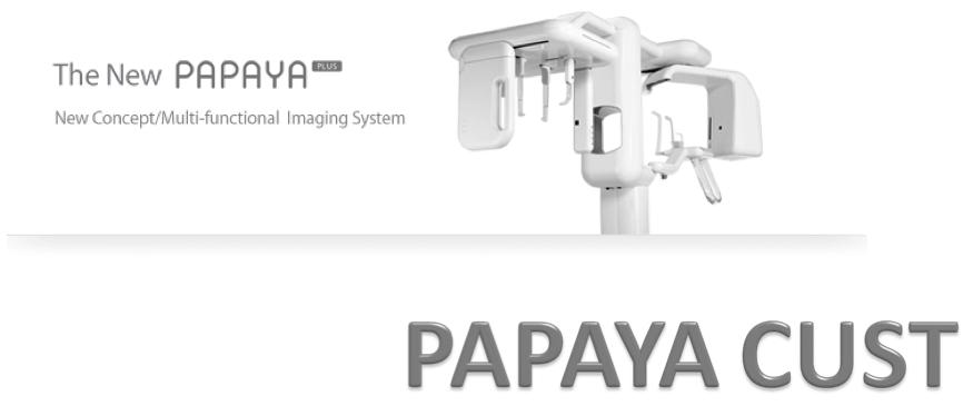 3D CUST funkcja 3D Pantomograf PAPAYA