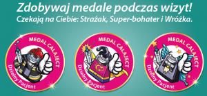 Gabinet przyjany dzieciom medale Calaject dzielny pacjent