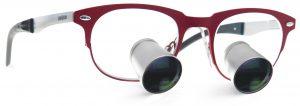 Indywidualne lupy stomatologiczne i medyczne ExamVision model Icon red