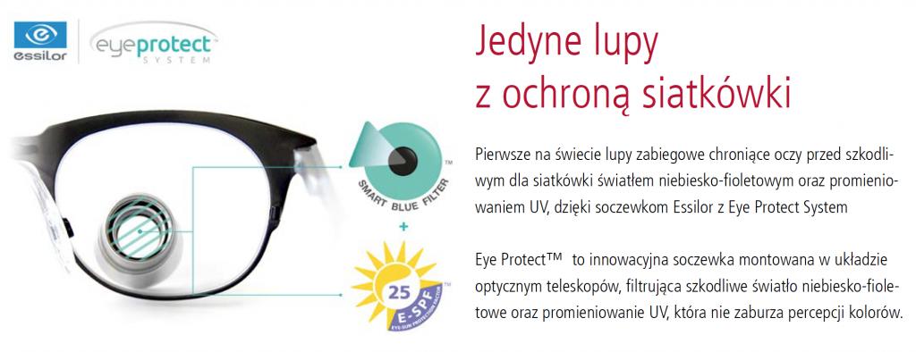 Lupy z ochroną siatkówki przed UV
