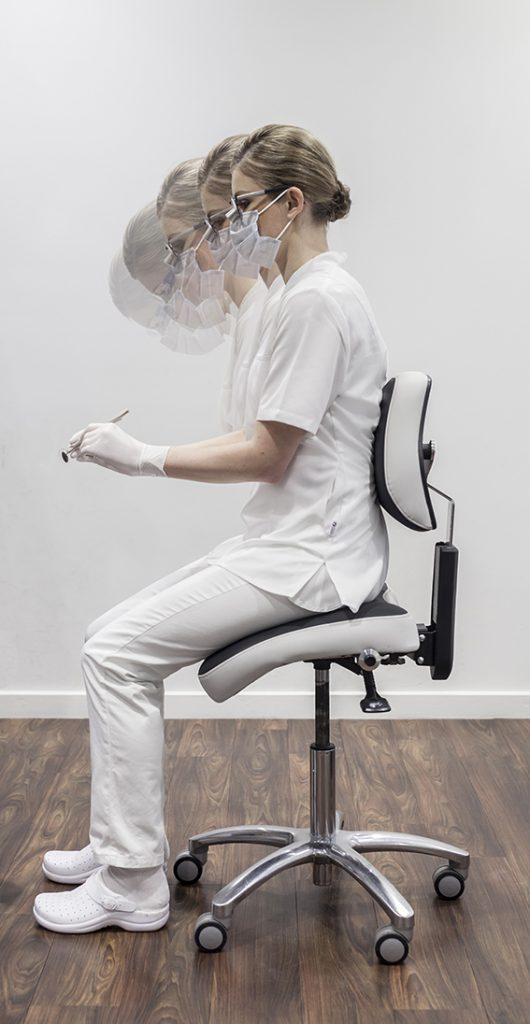 Lupy indywidualne ExamVision, krzesło ergonomiczne BQErgonomics