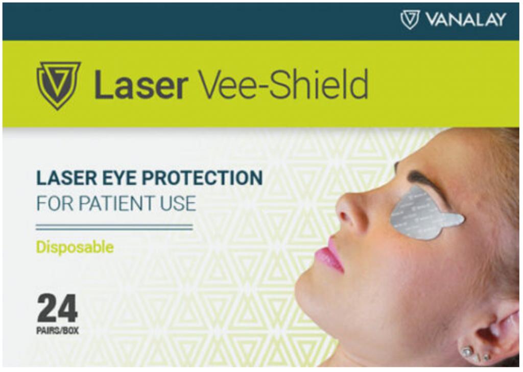 Jednorazowa ochrona oczu pacjenta przy zabiegu laserowym.