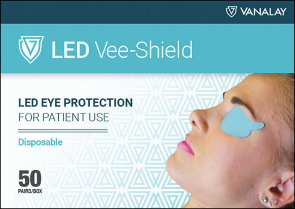 Jednorazowa ochrona oczu pacjenta przy zabiegu led